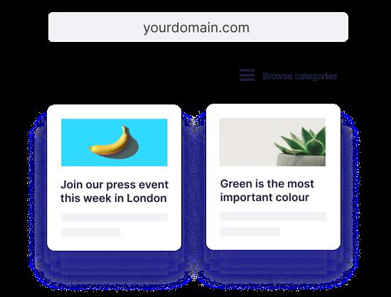 newsroom branded domain url