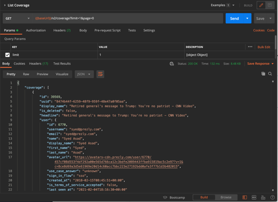 Interact with API
