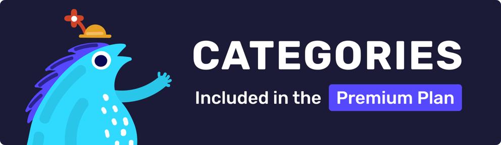 categories in premium plan